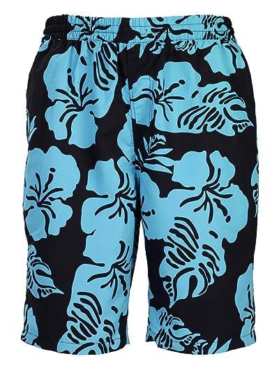 4da7f41d4fdc Bugatti reg  Short de bain homme avec motif floral tendance  ndash   Noir jade ou