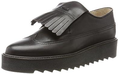 Marc O'Polo Lace Up Shoe 70814243402125, Mocassins Femme, Schwarz (Black), 41 EU
