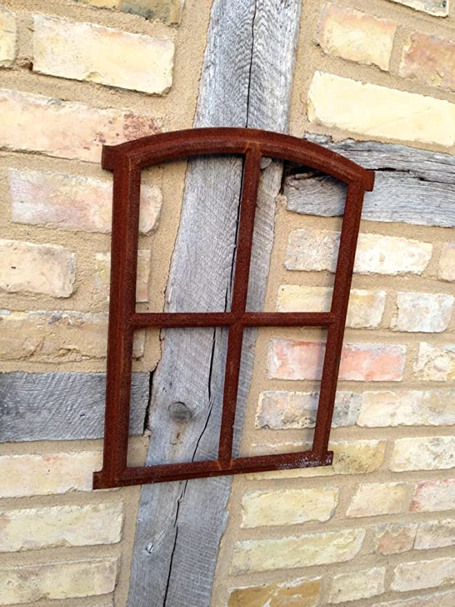 Fenster Oskar 50x34cm Sprossenfenster für Gartenhaus Eisenfenster Stallfenster