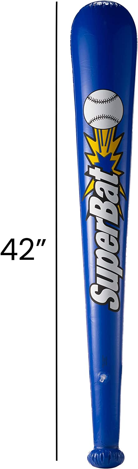 Bedwina Inflatable Baseball Bats in Bulk - (Pack of 12) - Giant 42 Inch Baseball Party Favors for Kids, Sports Theme Toy Party Supplies and Birthday Party Decorations: Toys & Games