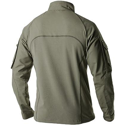 b181dccc CQR Men's Performance Combat Top Military UPF 50+ Shirt TOS201 | Amazon