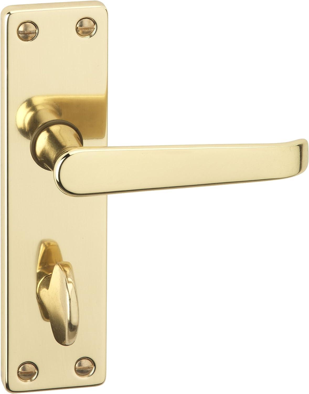 Bathroom Door Handles Winged Internal Brushed Chrome Door Handles on Backplate