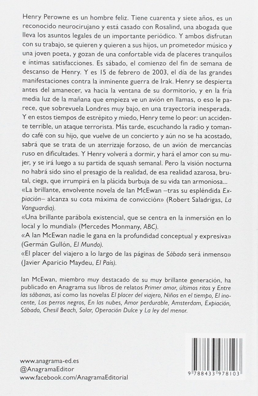 Sabado spanish edition ian mcewan 9788433978103 amazon books fandeluxe Gallery