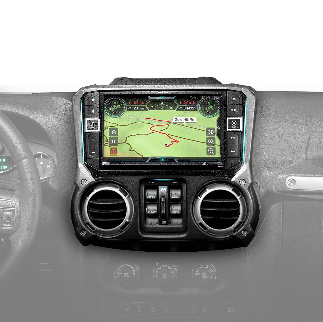 Alpine Electronics X209-WRA-OR 9'' Restyle Navigation System with Off-Road Mode & Apple CarPlay & Android Auto for The Jeep Wrangler (2011-2018)