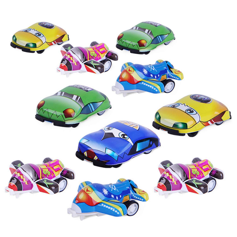 Beetest 5 UNIDS Cars + 5PCS Planes Mini Cartoon Pull Back ...