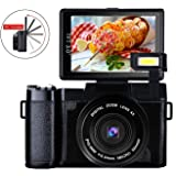 デジタルカメラ デジカメ ビデオカメラ カムコーダー ビデオブログカメラ フルHD 1080p 24.0MP 180度回転スクリーン