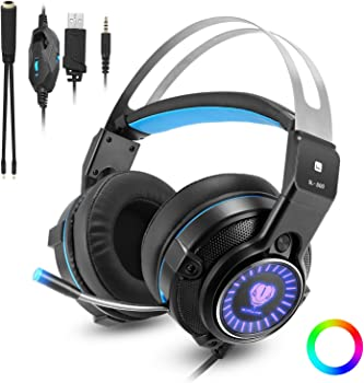 Butfulake Over-Ear 3.5mm Wired Gaming Headphones