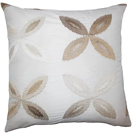 The Pillow Collection Syshe Ikat Bedding Sham Natural Euro//26 x 26