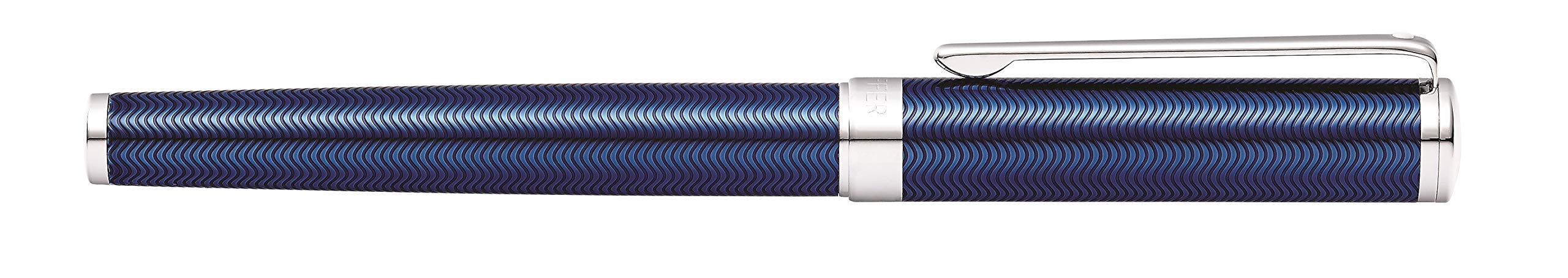 Sheaffer Intensity Engraved Translucent Blue Rollerball Pen with Chrome Cap and Trim by Sheaffer (Image #4)