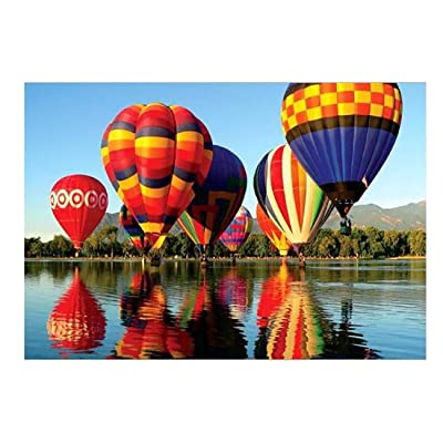 Jigsaw Puzzle, Joyful Hot Air Balloons Pattern Kids Puzzle Micro-Sized Puzzle Toy 1000PCs, Home Decor: Toys & Games