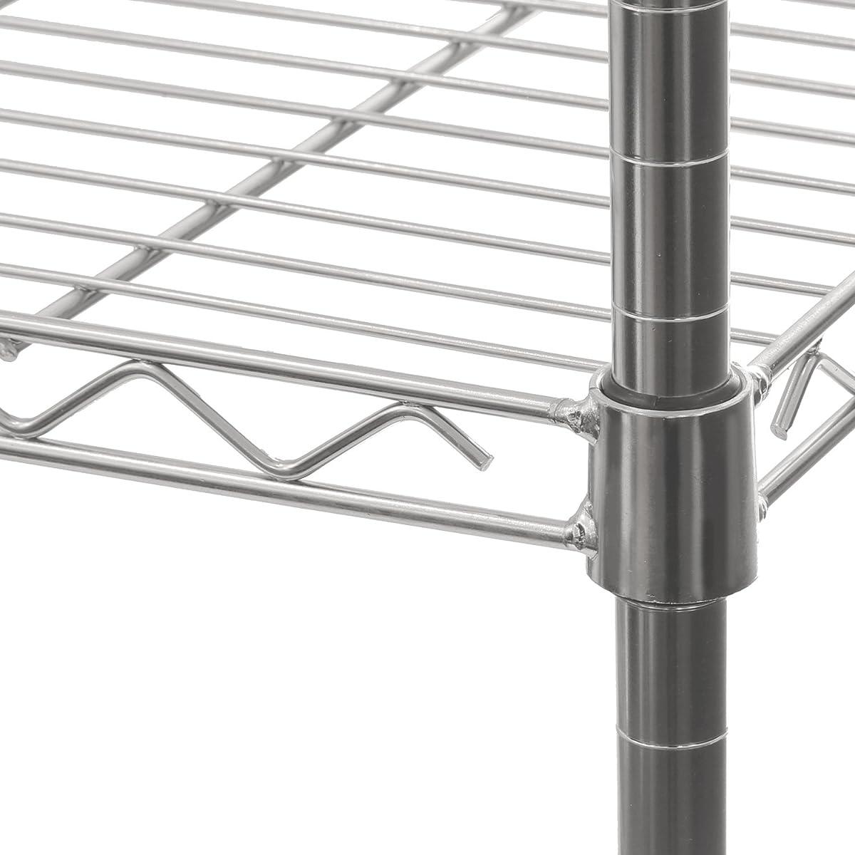 """Seville Classics 5-Tier UltraZinc Steel Wire Shelving /w Wheels, 14"""" D x 30"""" W x60"""" H"""