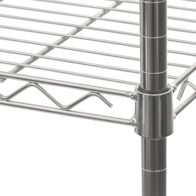 Seville Classics 5-Tier UltraZinc Steel Wire Shelving /w Wheels, 14'' D x 30'' W x  60'' H by Seville Classics (Image #5)