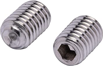 100 pc #4-40 X 1//8 Stainless Set Screw with Hex Allen Head Drive and Oval Point Stainless Steel Screws by Bolt Dropper 304 18-8