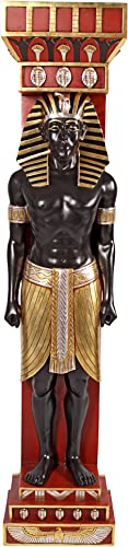 Design Toscano Egyptian God Scribe Telemon Wall Sculpture Column