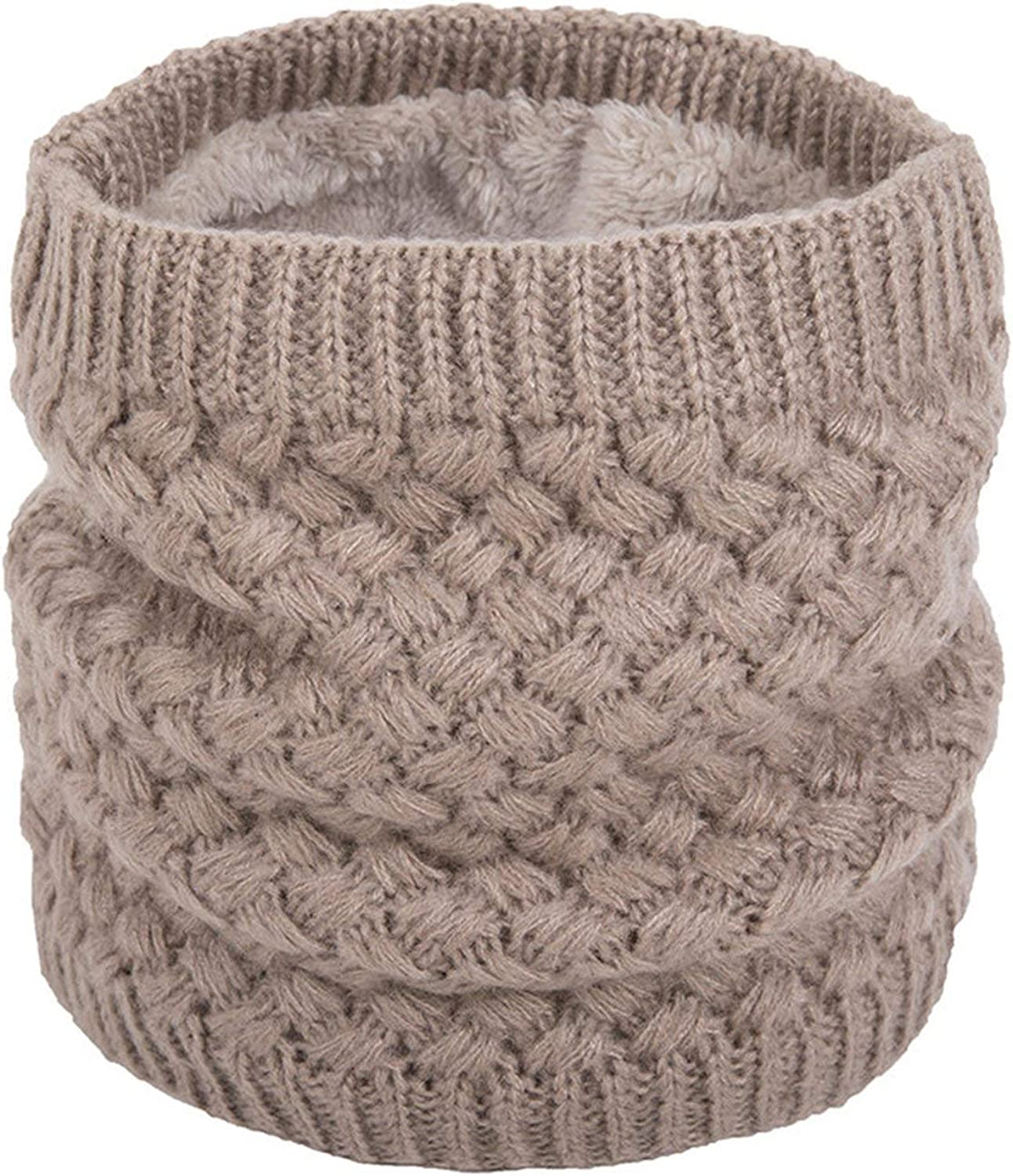 Women Warm Knitted Ring Scarves Thick Elastic Knit Mufflers Children Neck