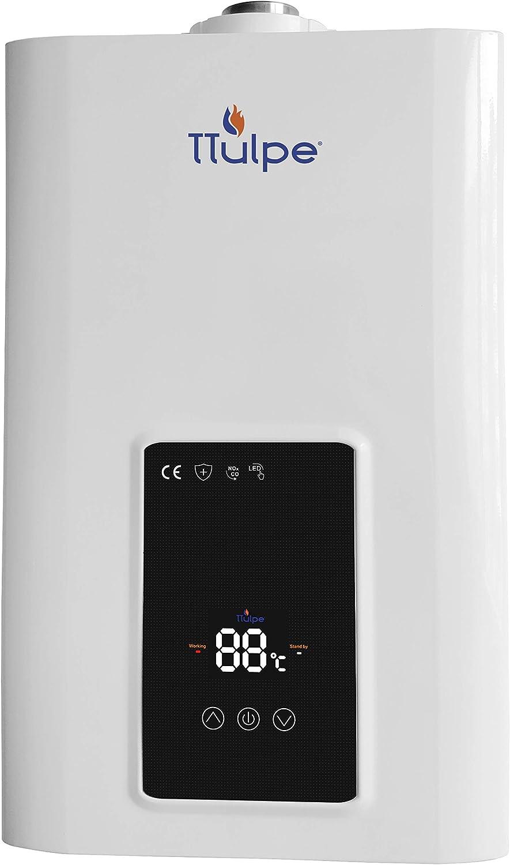 TTulpe® C-Meister 13 P30 Eco, ErP/Bus NOx Calentador de baño de gas propano/butano impermeable con ventosa, 30 mbar.