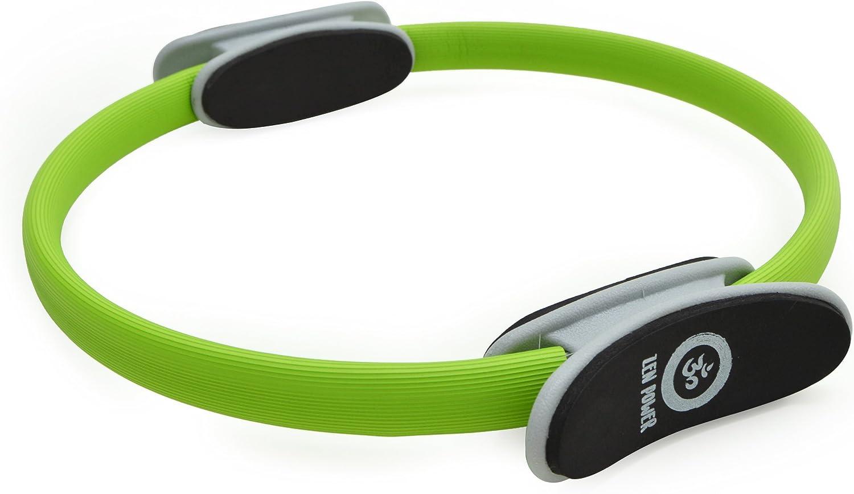 Anillo de pilates/de yoga ZenPower - dispositivo de entrenamiento para un entramiento de fuerza y resistencia eficaz, Anillo con un diámetro de 38cm - en quatro diversos colores …
