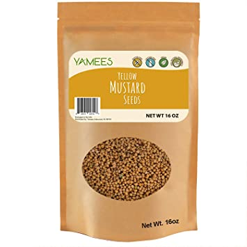 Amazon com : Yamees Mustard Seeds - Yellow Mustard Seeds