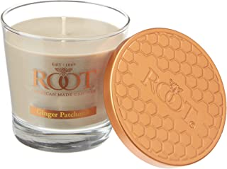 product image for Root Candles Honeycomb Veriglass Scented Beeswax Blend Candle, Small, Ginger Patchouli