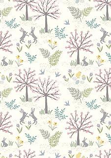 Fat Quarter Spring In Paris Cream Cotton Quilting Fabric 50cm x 55cm