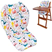Twoworld High Chair Cushion, Large Thickening Baby High Chair Seat Cushion Liner Mat Pad Cover Breathable (Green…