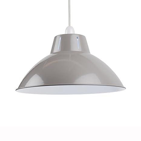 Gris metalizado para lámpara Easy Fit 350 mm lámpara de ...