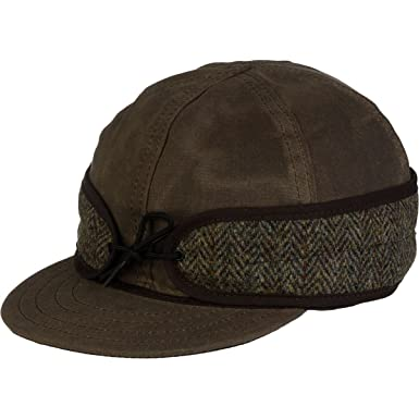 a373cd5a Stormy Kromer Men's Waxed Cotton Cap with Harris Tweed at Amazon Men's  Clothing store: