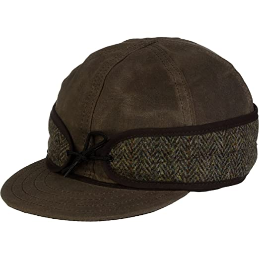 Stormy Kromer Men s Waxed Cotton Cap with Harris Tweed at Amazon ... b7848fdf4a46