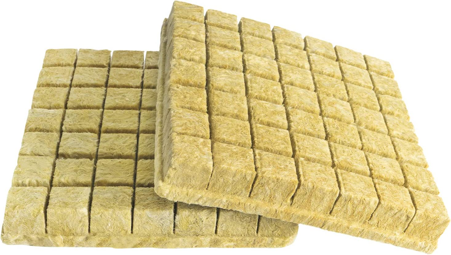 CastleGreens Rockwool Grow Cubes, 1.5inches Starter Plugs for Plant Growing, Hydroponic Grow Media(2 Sheets, 98 Plugs Total)