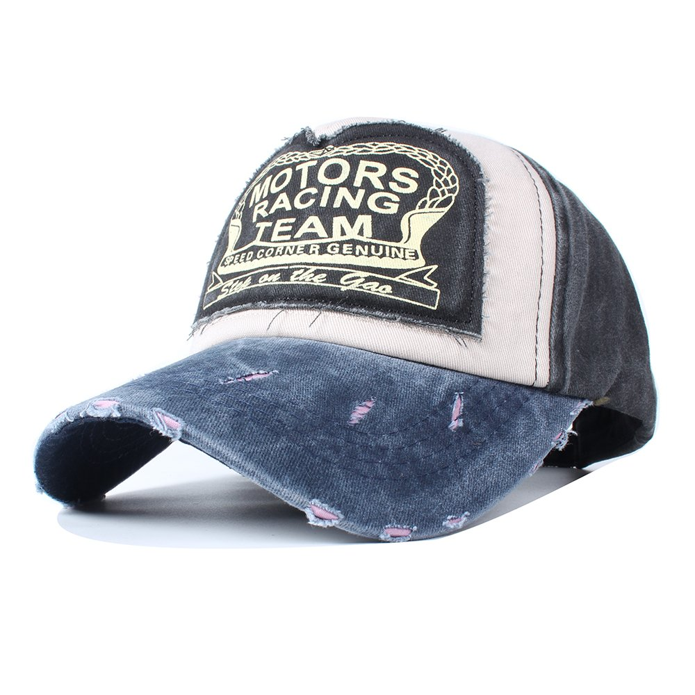 d96944c94f9 Amazon.com  Vankerful Vintage Washed Denim Cotton Sports Baseball Cap for  Women and Men Brown Navy  Sports   Outdoors