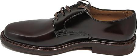 George´s Shoes.3541. Zapato de Cordones Pala Lisa, Totalmente Hecho a Mano en Inca Mallorca, Piel de Becerro de Primera Calidad, Color marrón
