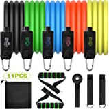 Resistance Bands Set, 150LBS Exercise Bands with Handles, Door Anchor, Ankle Straps, Carrying Bag, Workouts Bands for…