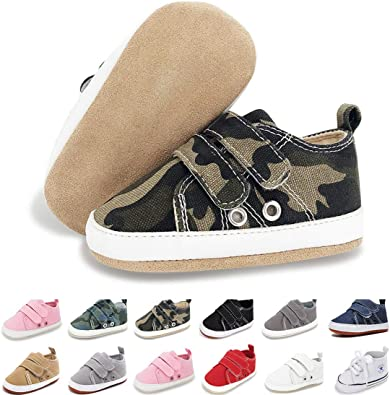 Ataiwee Infant Boy Girl Sneaker Infant//Toddler . Baby Soft Sole Canvas Slip on Shoes