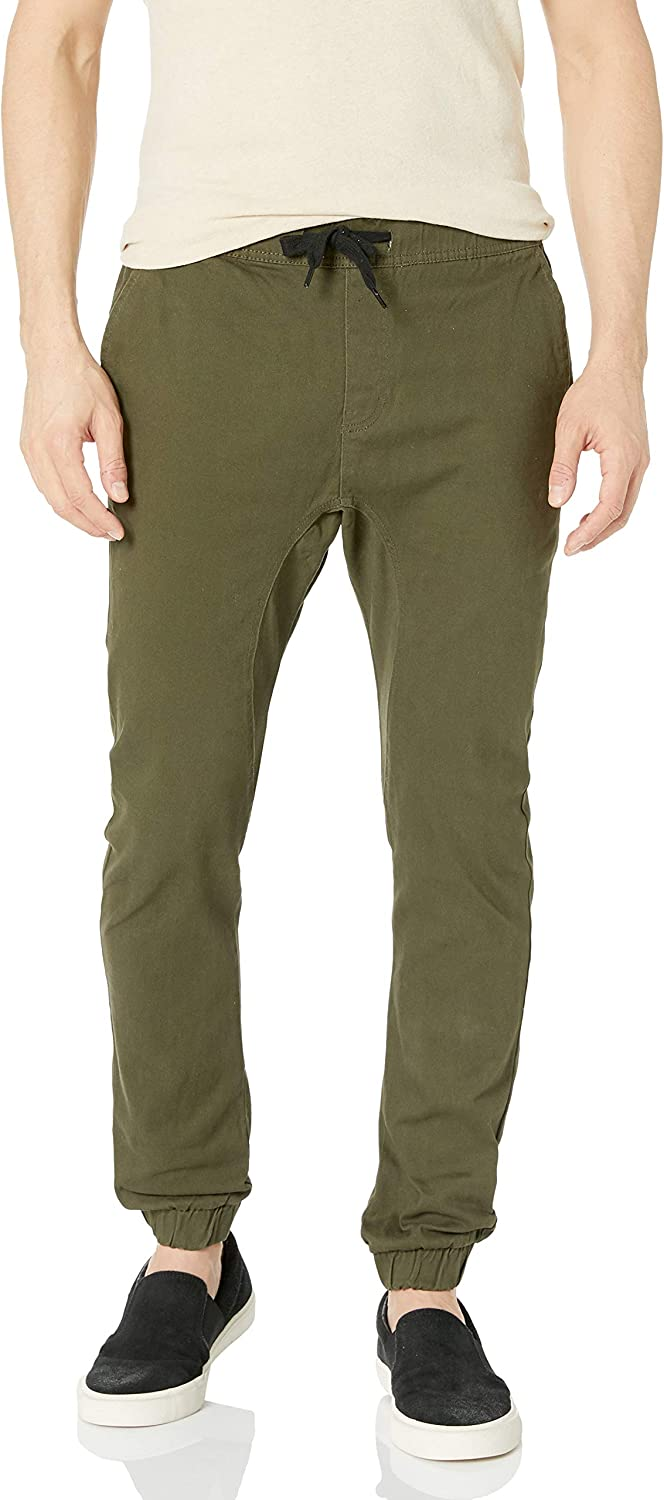 Southpole Mens Basic Stretch Twill Jogger Pants-Reg and Big /& Tall Sizes