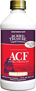 Buried Treasure ACF Extra Strength Ultra Advanced Immune Recovery with Elderberry Echinacea Vitamin C and Herbal Blend for Comprehensive Rapid Relief 16 Fluid Ounce