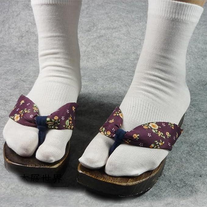 Tinksky Elástico Soft Toe Toe calcetines estilo japonés Flip Flops calcetines, regalo para hombres de