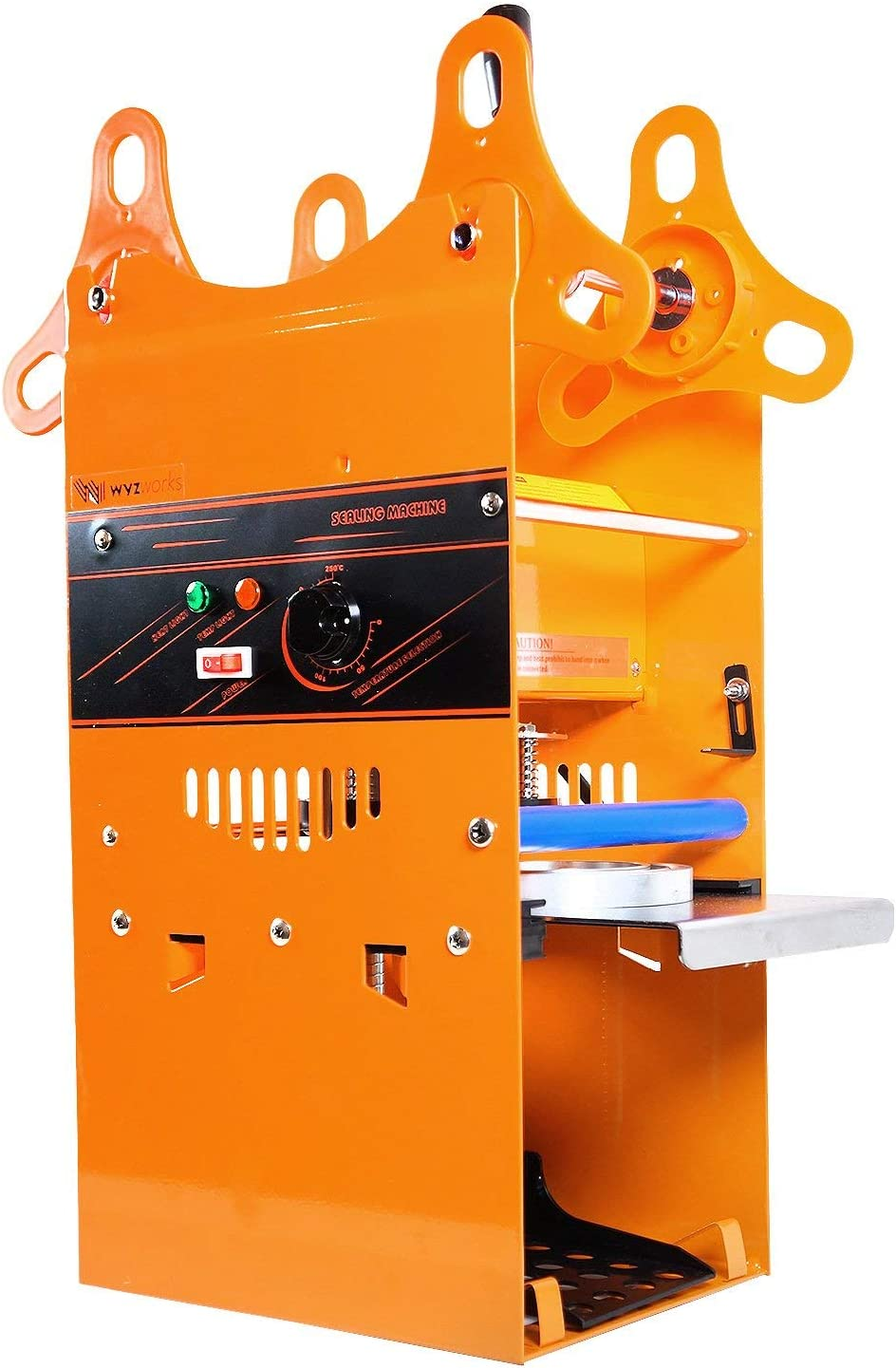 WYZwork Manual 180mm Tall Boba Tea Cup Sealer Sealing Machine High Operating Speed 300-500 Cups/hr 270W