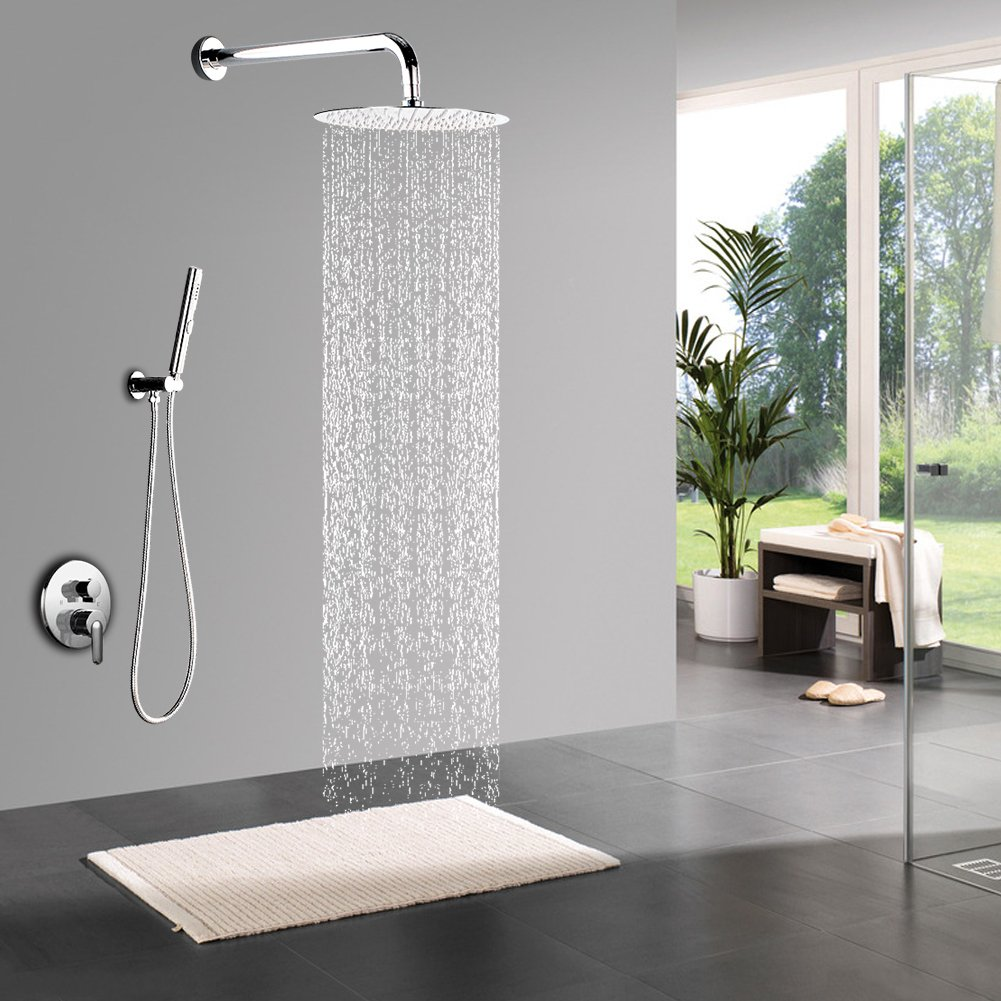 STARBATH Shower Systems with 12 Inch Rain Shower Head and Hand ...