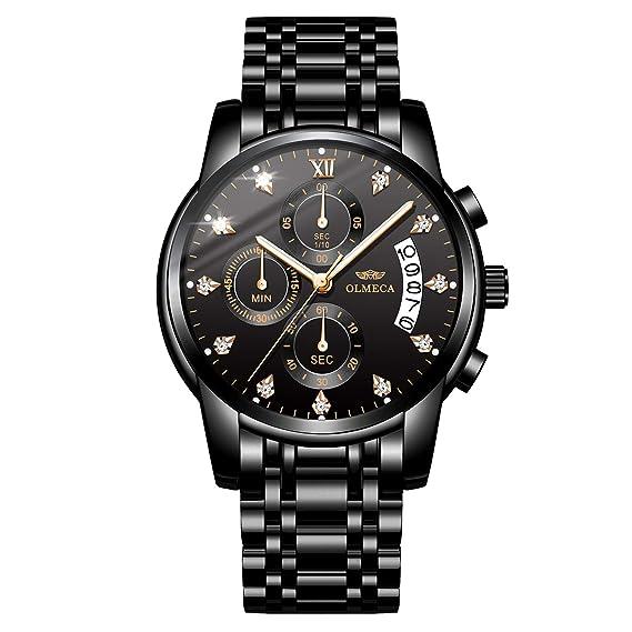 Reloj de Pulsera para Hombre OLMECA, de Cuarzo, Resistente al Agua, con cronógrafo, para Hombre