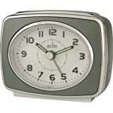 Acctim 13877 Retro 2 Reloj con alarma, color titanio
