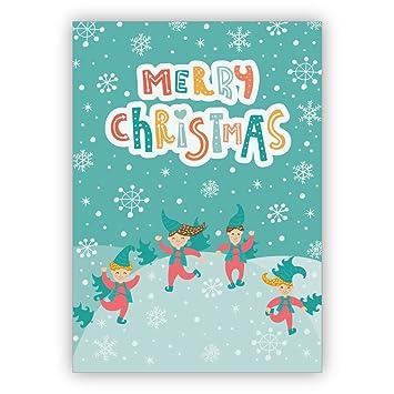 Unternehmen Weihnachtskarten Set (16Stk) Kindliche Weihnachtskarte ...