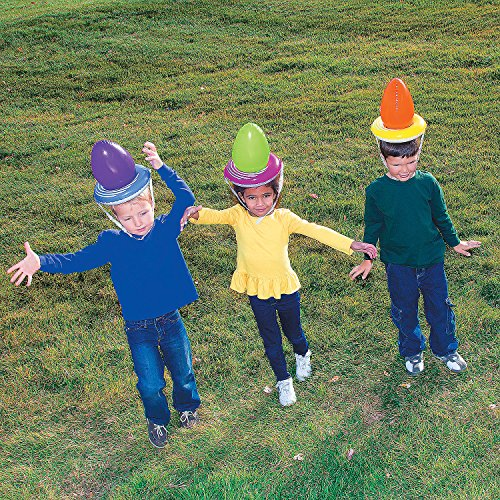 Inflatable Balancing Easter Egg Relay Game for Party or Egg Hunt for 6 players