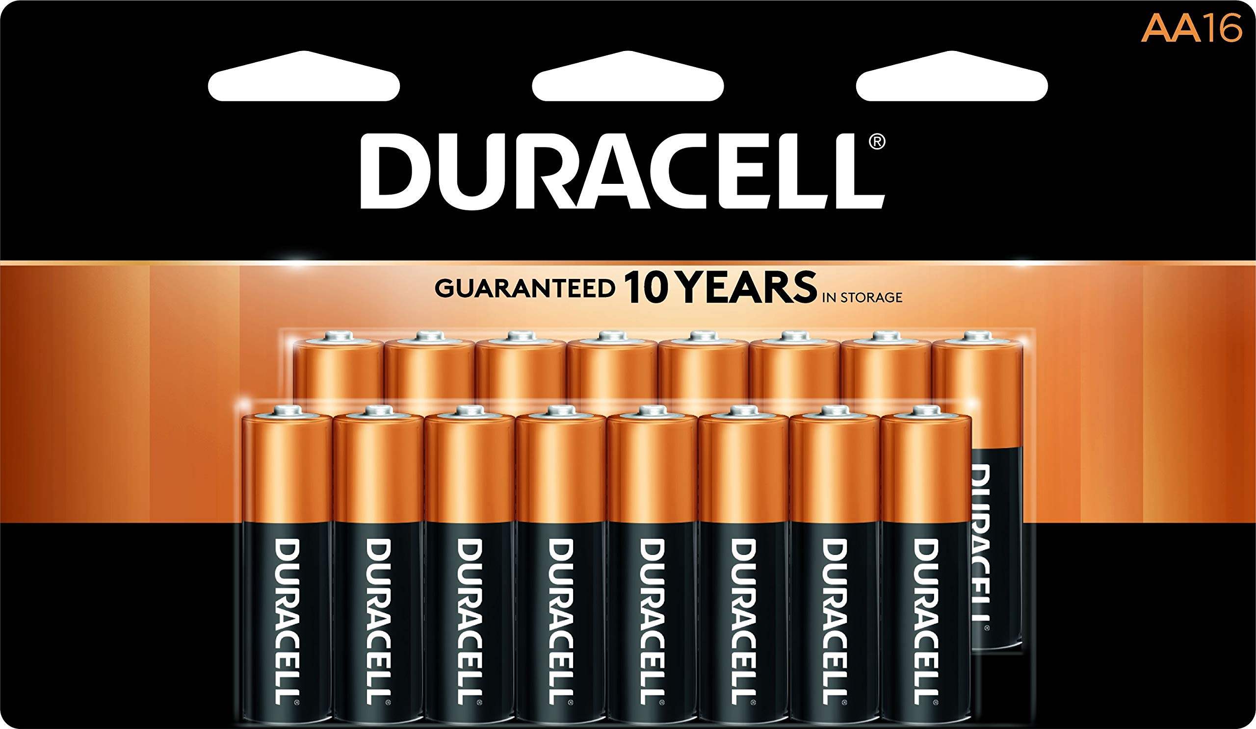Duracell - CopperTop AA Alkaline Batteries - long lasting, all-purpose Double A battery for household and business - 16 Count by Duracell