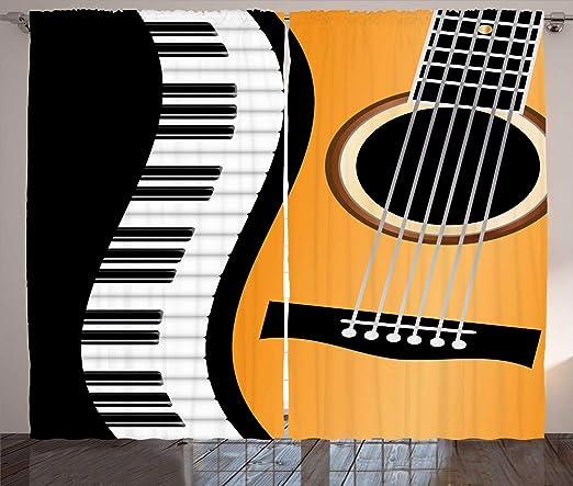 ABAKUHAUS Música Cortinas, Llaves del Piano y la Guitarra Wave ...