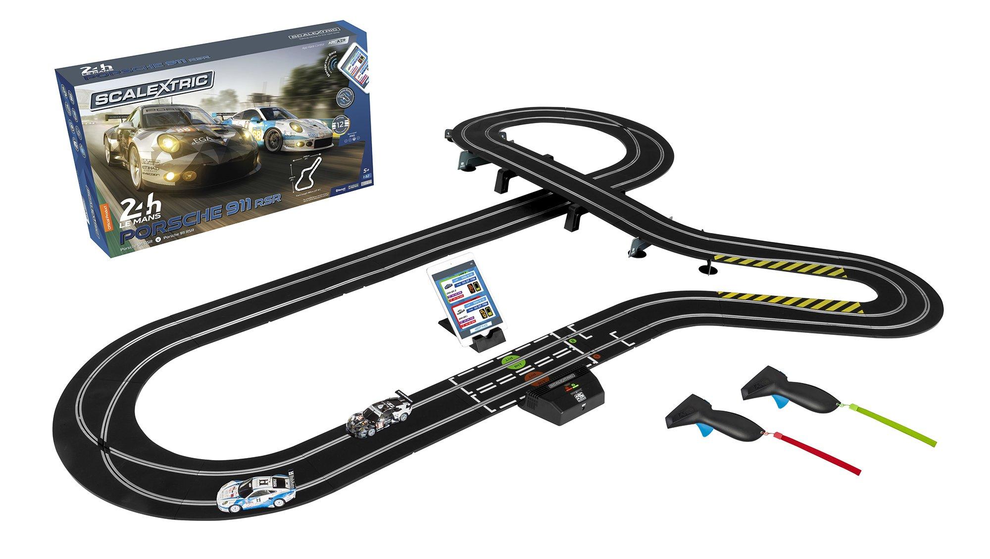 Scalextric Arc Air 24hr Le Mans Porsche 911 1:32 Slot Car Race Track Playset C1359T Set