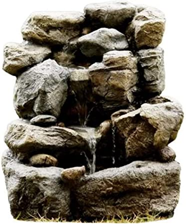 Amazon Com Jeco Small Rock Indoor Outdoor Fountain Garden Outdoor