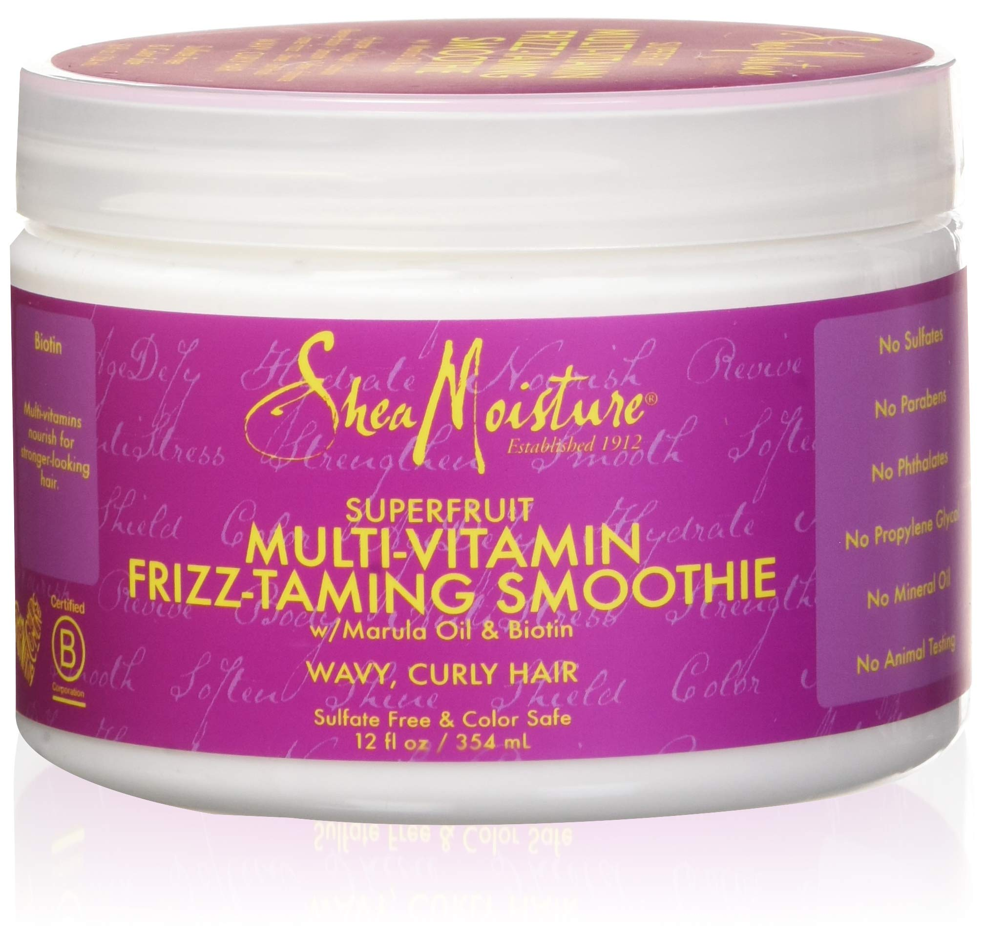 Shea Moisture Frizz-taming Smoothie Superfruit Multi-Vitamin, 12 Fluid Ounce