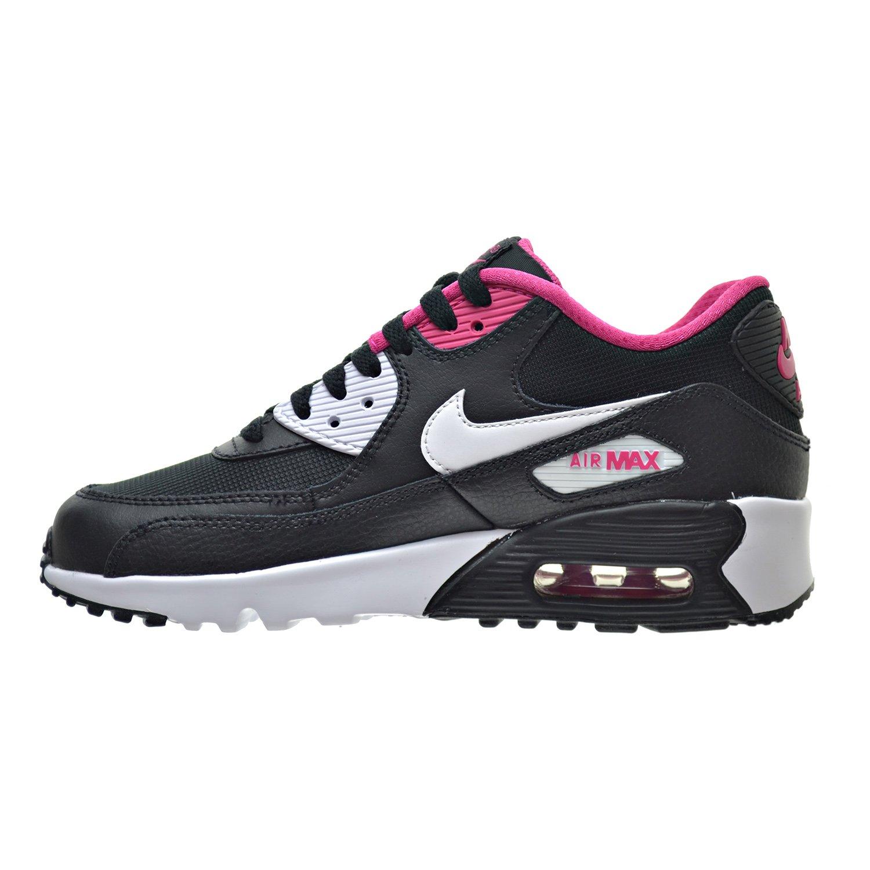 size 40 9c31c f60f6 Amazon.com   Nike Air Max 90 Mesh(GS) Big Kids Shoes Black White Vivid Pink  833340-002 (5 M US)   Running
