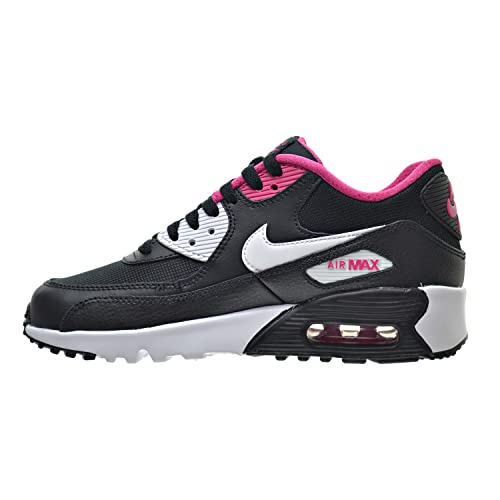 size 40 36614 b9a3a Amazon.com   Nike Air Max 90 Mesh(GS) Big Kids Shoes Black White Vivid Pink  833340-002 (5 M US)   Running