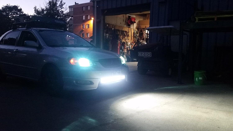 AUXTINGS 45 cm 18 pollici 108W Barra luminosa a LED spot flood Combo Beam Off road Lampada da lavoro a LED con kit cablaggio per fuoristrada 4x4 Atv Utv